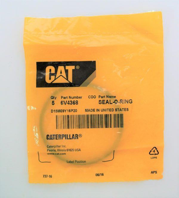 О-кольцо для Caterpiller (Катерпиллер), номер запчасти 6V-4368, 6V4368