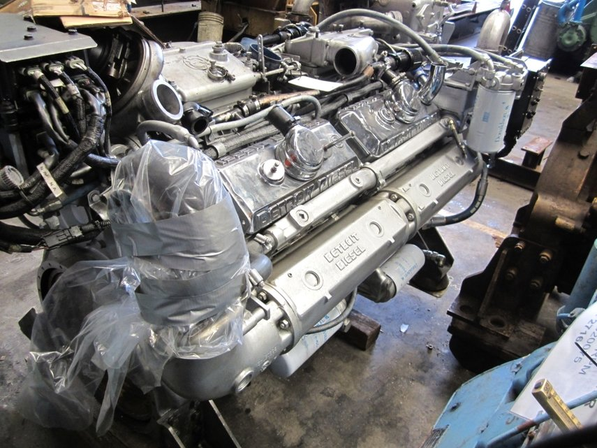 detroit diesel 12v92 ремонт двигателя